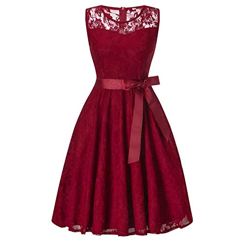 Solarwater Bridesmaid dress Vestido Corto de Dama de Honor, Color Azul Oscuro, Vestido de Fiesta de Boda,…