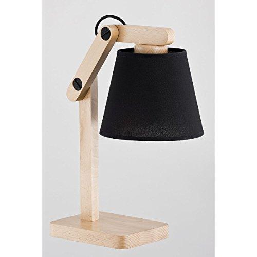 ALFA Joga Noir 1 Lampe de Chevet Lampe à Poser Luminaire Lampe de Table lumière Interieur
