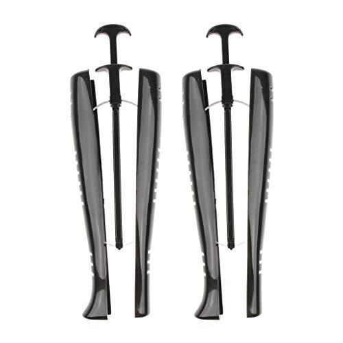 Hellery 1 Paar Automatischer Stiefelspanner Schaftformer Bootstretcher mit Spannfeder & Griff für Damen Stiefel - Schwarz