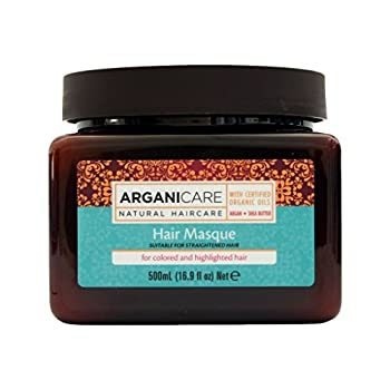 Arganicare Restoring Hair Masque for Colored /Highlighted Hair Enriched with Organic Argan Oil and Shea Butter 16.9 Fluid Ounce