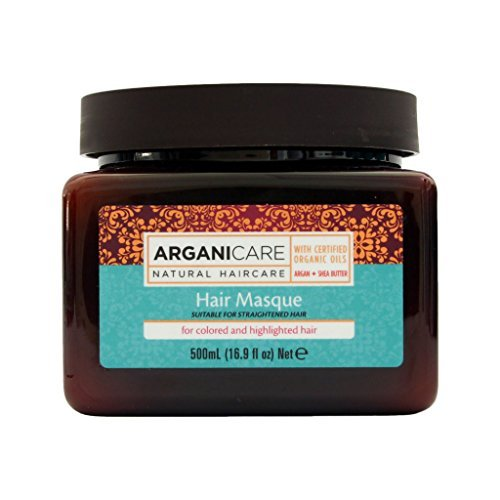 Arganicare Restoring Hair Masque for Colored /Highlighted Hair Enriched with Organic Argan Oil and Shea Butter(16.9 Fluid Ounce)