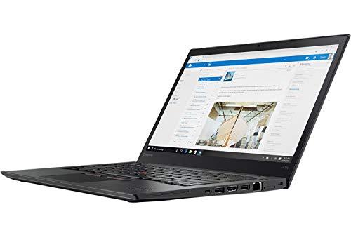 Lenovo ThinkPad T470s 14 pulgadas 1920 × 1080 Full HD Pantalla Intel Core i5 256 GB SSD Disco duro 8 GB Memoria Windows 10 Pro MAR Webcam teclado UMTS LTE Notebook (reacondicionado)