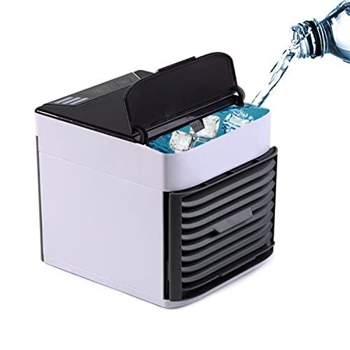 topuhair Condizionatore d'Aria Portatile 3 in 1 Ventola evaporative Air Cooler Portable Personal Space Air Cooler Piccolo Ventola di Raffreddamento Desktop USB Mini Tavolo (Bianco)