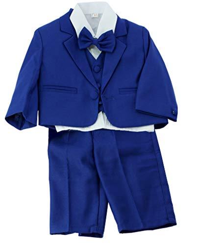 Boutique-Magique Hochzeits-Kostüm, Marineblau, 5-teilig Gr. 1 Jahr, Königsblau