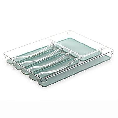 BINO 6-Slot Silverware Cutlery Tray Organizer, Aqua