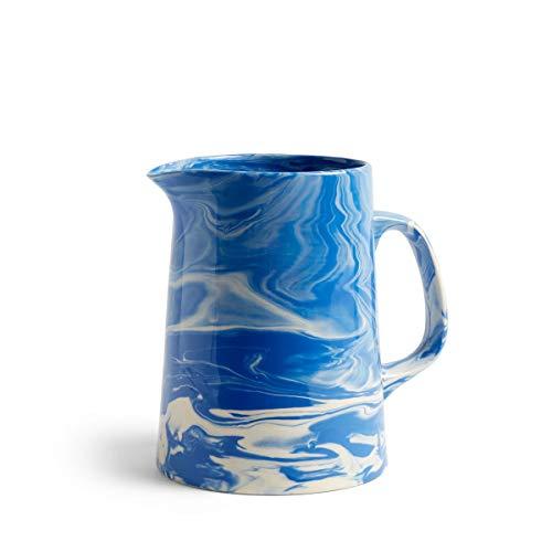 Marbled Krug, blau Porzellan bemaltes Steinzeug H 21cm Ø 16cm
