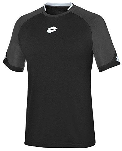 Lotto - Maglietta sportiva - A punta tonda - Manica Corta - uomo Black/White XL
