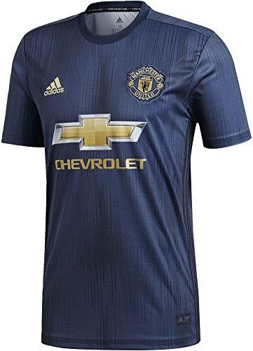 adidas 18/19 Manchester United 3rd, Maglietta Uomo, Blu (Collegiate Navy/Night Navy/Matte Gold), L
