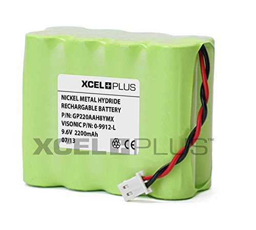 Visonic hohe Kapazität 2200mAh Powermax+ Plus & Pro 9.6V Alarmtafel Batterie 0-9912-L