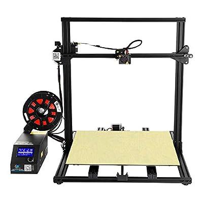 Professional 3D Printer CR-10S5 Filament Monitor with 2 Z Lead Screws, Large DIY Printing Machine 500x500x500mm (Black)