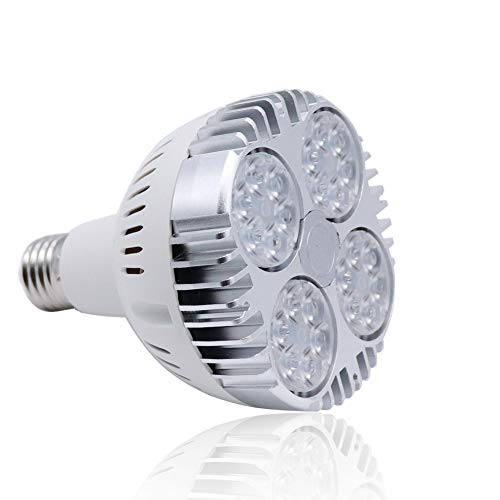 Aolyty 35w (75W Equivalent) PAR30 LED Bulb White 6000K 2800lm E26 Base25 Degree Beam Angle Track Spotlight with Fan AC 120v