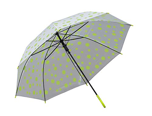 RAAYA Transparent Doted Umbrella with Long Comfortable Grip Handle Multicolor Pack of 1