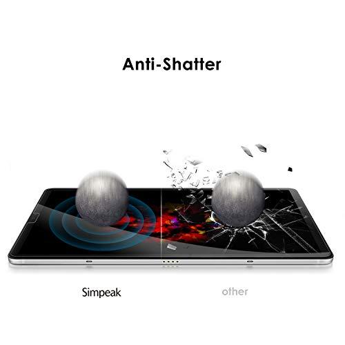 Simpeak 2-Stück Panzerglas Schutzfolie Kompatibel für Samsung Tab S6 2019/Tab S5e 10.5 2019 [2 Pcs], Hartglas Tempered Glass Screen Protector Kompatibel mit Galaxy Tab S6 - Transparent