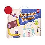 CCCYT Kit De Ciencias para Niños Laboratorio De Quimica Experimentos Científicos para Niños 163 Experimentos Científicos Juguetes Educativos para Niños Niñas De 5-11 Años