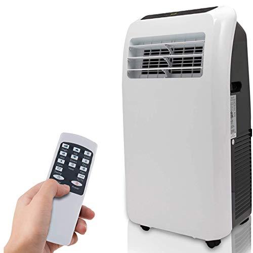 DMSA Portable Air Conditioner, 10,000 BTU + HEAT,With Cooler, Dehumidifier, Fan, Exhaust Hose, Window Seal, Wheels, Remote Control, White