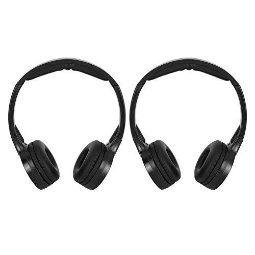 Aramox draadloze koptelefoon Car Earphone, 2-kanaals koptelefoon met draadloze infrarood-stereo-audio