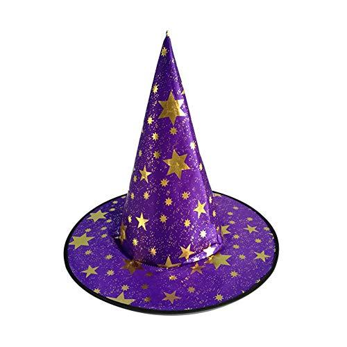 BONNIO 1 Stück Halloween Hexenhut Magic Hat Party Toys Cosplay Erwachsene und Kinder Spitzer Hut