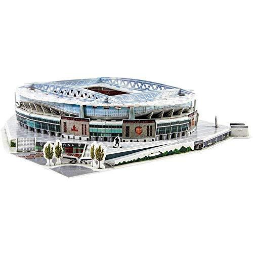 DJFT Arsenal Emirates Stadium 3D Puzzle Model, Sports Stadium 3D Model, Fans Souvenir DIY Jigsaw Puzzle Educational Toys Birthday for Kids Adults (14' × 13' × 3')