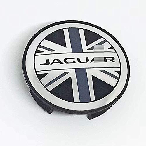 YANQIN para Ja-guar 57mm 60mm 4 Piezas Tapas Centrales, Tapacubos Pegatinas Wheel Logotipo Casquillos Hub Caps AutomóViles Accesorios Cubo Coche ProteccióN NeumáTicos