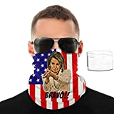 xvb Nancy Pelosi Clap Sarcasm Anti Trump Meme Face Scarf -Dust Uv Protection Lightweight Summer Bandanas Adjustable Comfortable Breathable Face Covering for Outdoor Cycling