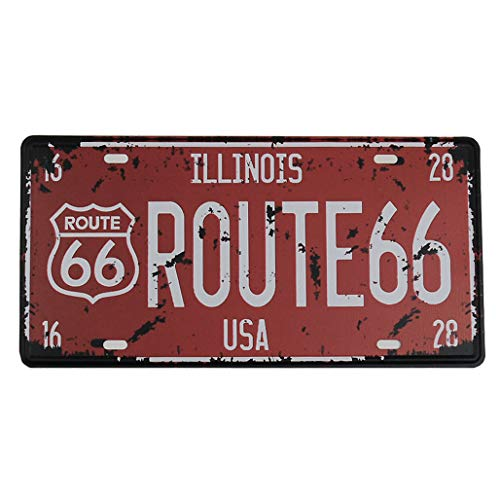 Magic show Route 66 Tin Poster Metal License Plate Home Bar Decor Metal Red Sign vintage metal signs