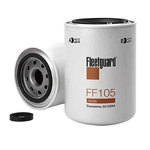 Fleetguard FF105 Spin-On Fuel Filter With NanoNet Advanced Filtration Media, For Cummins 154709