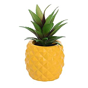 Silk Flower Arrangements LASPERAL Potted Artificial Succulent Decoration, Fake Pineapple Plant for Home Office Tabletop Decoration