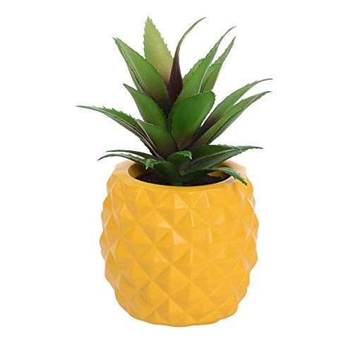 LASPERAL Potted Artificial Succulent Decoration, Fake Pineapple Plant for Home...