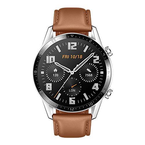 HUAWEI Watch GT 2 Smartwatch 46 mm, Durata Batteria fino a 2 Settimane, GPS, 15 Modalità di Allenamento, Display del Quadrante in Vetro 3D, Chiamata Tramite Bluetooth, Pebble Brown