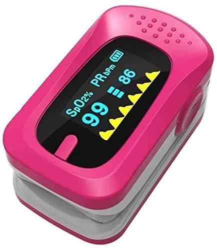 Fingerspitzen-Pulsoximeter Blutsauerstoffsättigungsmonitor Finger-tragbarer Sauerstoffmonitor mit LED-Bildschirmoximeter für Kinder und Erwachsene Aufzeichnungen zur Familiengesundheit (Farbe: Rot)
