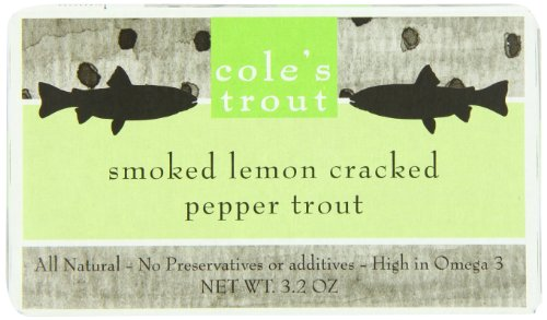 Cole's Smoked Trout, Lemon Pepper, 3.2 Ounce
