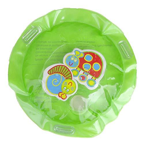 La Cabina Demiawaking Tapis Gonflable Tapis de Jeux Eau Gonflé pour bébé Coussin Gonflable Le Tapis de Jeu Amusant pour l'eau, Tapis d'eau Gonflable de bébé 70cm (Grenouille Rond Vert)