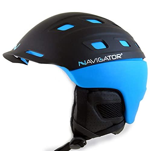 NAVIGATOR Parrot, Casco de esquí y de Snowboard, Ajustable (Azul, XS-M (54-58cm))
