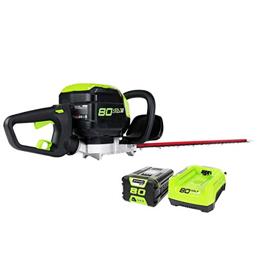 Greenworks PRO 80V 26inch Cordless Hedge Trimmer, 2Ah Battery and Charger Included GHT80321