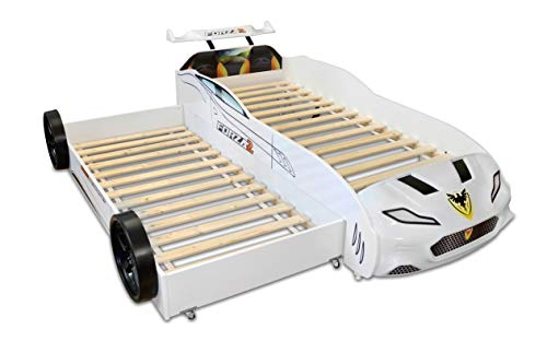 Anka-Plastik Autobett Coupe mit Gästebett Forza 2 Weiß