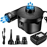 OKPOW Electric Air Pump for Inflatables 110V AC/12V DC Pump for Air Mattresses Beds Inflatables Floats Pool