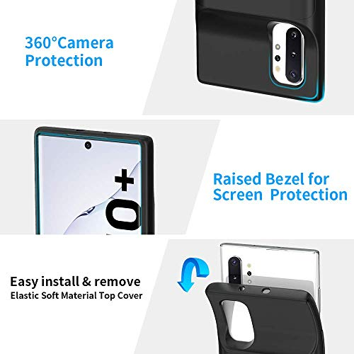 NEWDERY Galaxy Note 10 Plus Battery Case, Built-in 6000mAh Qi Wireless Charging Receiver Mode, Extended Backup Charger Case for Samsung Galaxy Note 10 + 5G(6.8 inches)