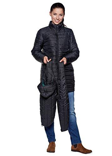 Be! Mama 3in1 - Wintertragejacke/Umstandsjacke & Normale Damenjacke in einem, Modell: Sorrento, schwarz, XL