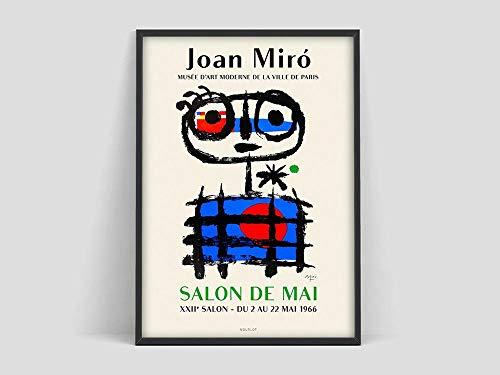 Póster de Joan Miró, impresión de Mourlot Paris, impresión de Joan Miro, art affiche, impresión de arte, arte de pared, póster, lienzo sin marco M 50x70cm