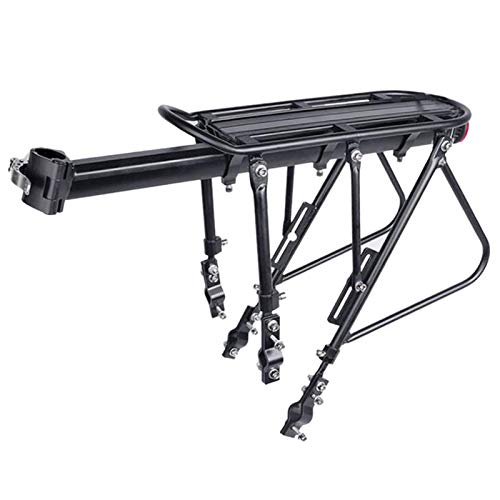 Suading Heavy Duty Bicycle Luggage Carrier Rear Cargo Rack Seatpost Bag Holder Stand for 24-29 Inch Bikes Semi-Demolition