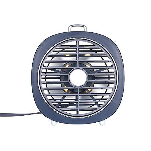 GTRB fan Mini ventilatore da tavolo USB 3 velocità 180 ° Direzione del vento Mini ventilatore con luce notturna regolabile Ventilatore da tavolo per ufficio Camera da letto domestica