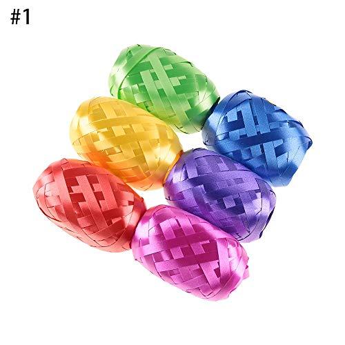 Lemon-Land 5mm*10m Nieuwe partij benodigdheden Bruiloft Decoratie Doos Decor Zijde Geschenken Wrapping Ballon Lint Roll Folie Curling 1-6pcs/bag Zwart