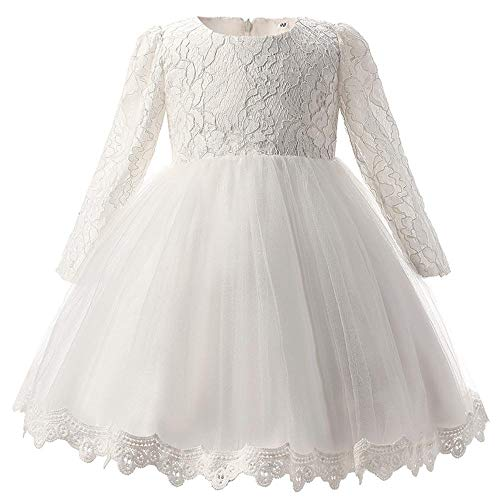 QJKai Petits Enfants au Crochet Long Papillon de Robe Manches Filet Fil Princess Puff Jupe