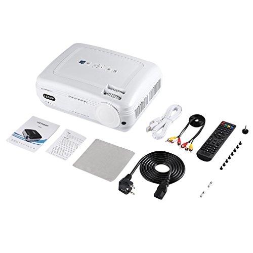 DAMAJIANGM 720P Proyector LED Proyector de Video portátil Multimedia Home Cinema Blanco Enchufe EU (DR)