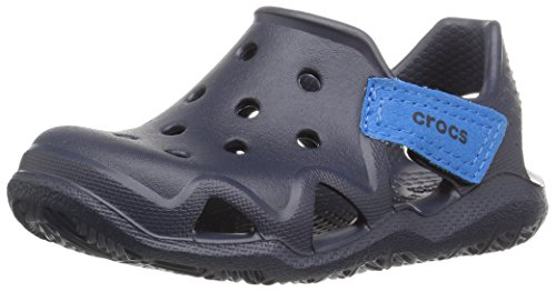 Crocs Kids' Swiftwater Wave Slip-on Sandal