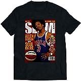 N/N Allen Iverson Slam Cover - Camiseta para hombre y mujer Negro Negro ( XXL
