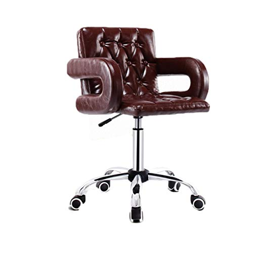 Chaise Fauteuil Ascenseur Poulie Rotative Tabouret Haut Dossier Moderne Minimaliste Bar Café Boutique Réception Home Restaurant 2 Couleurs MUMUJIN (Couleur : Marron)