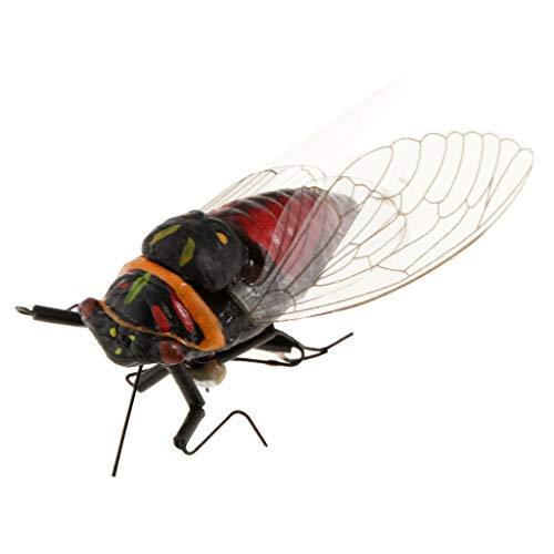 Sharplace Figurines d'Insectes en Argile Animaux Simulés Modèle Jouets - Cigale