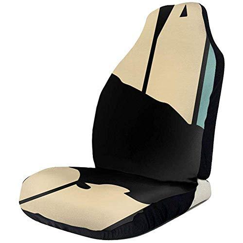 Protector de la cubierta del asiento de automóvil Jamaica Style States de estilo retro Envoltura fácil, poliéster lavable a máquina, ajuste universal La mayoría de los automóviles, camiones, SUV o furgonetas (1 pieza)