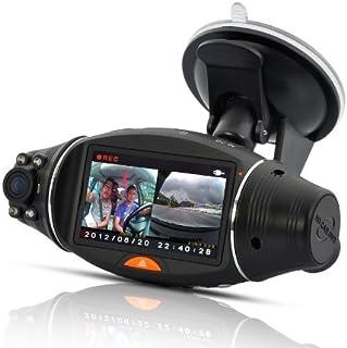 デュアルレンズ GPS搭載 Google Map 連動 ドライブレコーダー 車内・車外を同時撮影 前後カメラ搭載両面撮り 衝撃 Gセンサー機能あり 常時録画 上書き式 A0132